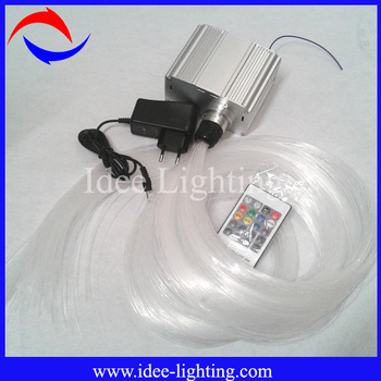 2015 7W LED fiber optic light kit with twinkle wheel white color