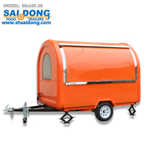Mobile Food Truck Ice Cream coffee Cart Hot Dog Mobile Food Cart Food Trailers