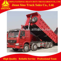 12 Wheel SINOTRUK Construction Transport HOWO 8x4 Tipper Lorry Truck