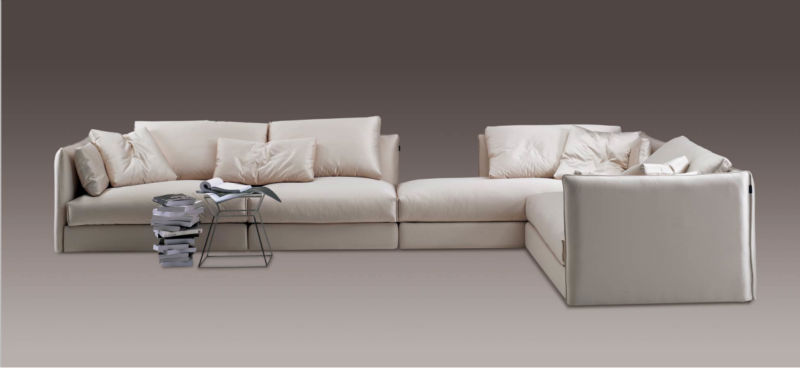 High quality novel design flexible italian fabric sofa for living room furniture