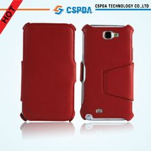 For Red Samsung Galaxy Note 2 N7100 Executive Leather Wallet case