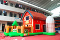 Inflatable farm jumping bouncer,inflatable bouncer combo fun city with small slide