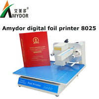 Hot sale!!! AMD8025 digital hot foil stamping machine/hot foil printer /hot stamping machine