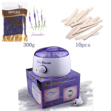 Paraffin Heater/Warmer+ Depilation hard wax beans +Wooden Spatulas