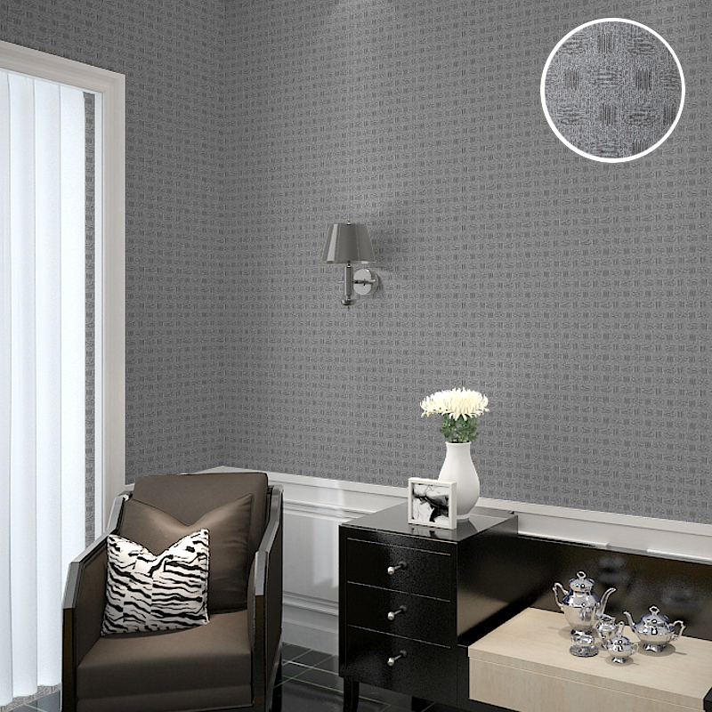 Chinese style Brief Grey Gray Plain Wallpaper for Office restaurant