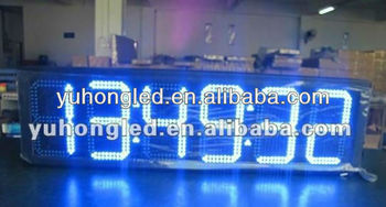 "10"" 88:88:88 Outdoor blue led countdown display"