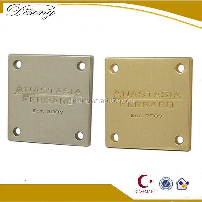 MET3440 Wholesale zinc alloy custom metal luggage tag/logo/label factory