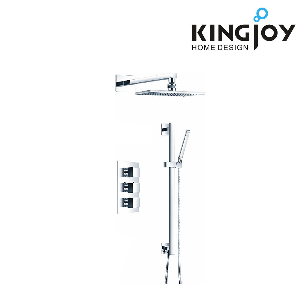 CUPC 2 way thermostatic shower faucet wall mounted with slide rail set