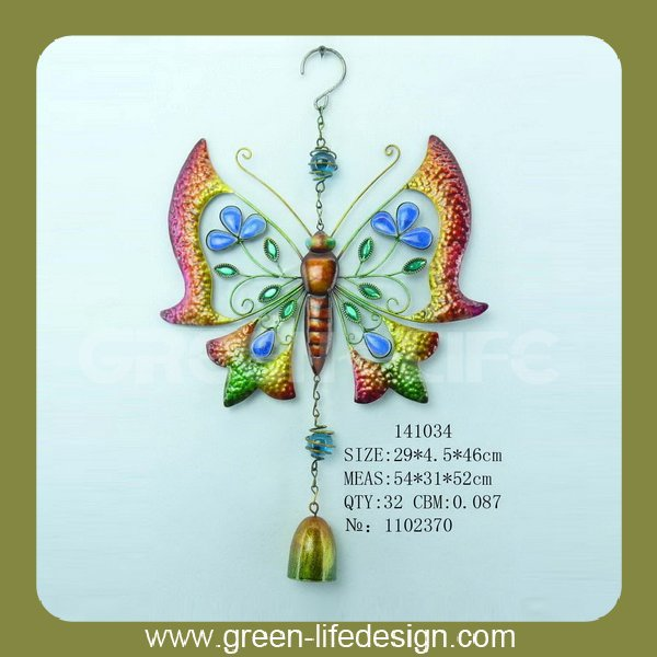 Indoor decorative items metal butterfly wall plaque
