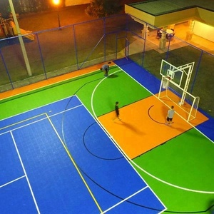 Portable Multi Used Sport Court Flooring Outdoor Basketball Flooring