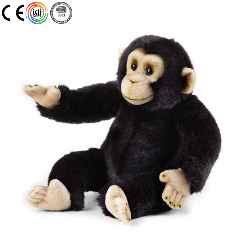 Simulation plush chimpanzee stuffed toy from BSCI & ICTI audited plush toys factory