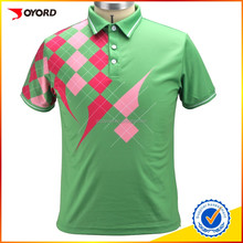Polyester/spandex sublimation custom polo t shirt