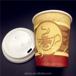 Print photographs on single wall hot paper cups
