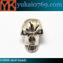 Made in China skull beads large,paracord skull bead,skull beads for paracord