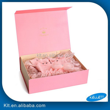 Customized Cardboard folding paper gift box for baby clothes packaging