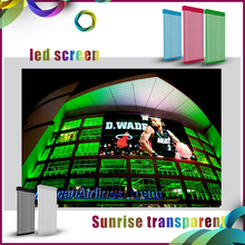 Video Display Function and Full Color Tube Chip Color Hot P16 outdoor Transparent Mesh Curtain LED Screens video wall panel