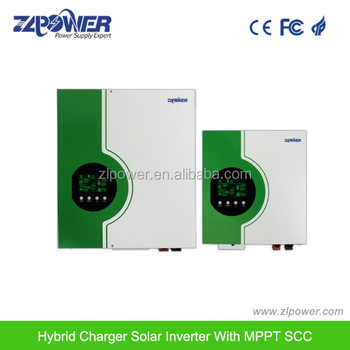 Hybrid solar inverter 3KVA high frequency pure sine wave inverter with MPPT solar charge controller