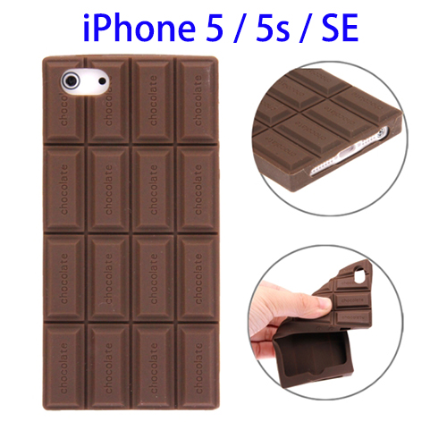 OEM LOGO Branding Chocolate Style Silicone Case for iPhone SE