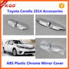 toyota corolla chrome accessories DOOR MIRROR trims for toyota corolla altis mirror rain cover for toyota corolla body kit