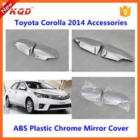 toyota corolla chrome accessories DOOR MIRROR trims for toyota corolla altis mirror rain cover for toyota corolla body kit