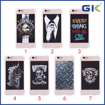 [GK] Corners Shockproof With 3D Embossed Soft TPU Case For iPhone 6 Plus Celulares Cover