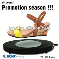 new invention ! magnetic levitating led display stand for shoe woman,flat shoes woman 2013