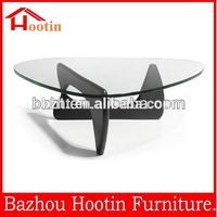 fashion cheap classic animal glass coffee table