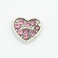 New Arrive 12 Months Heart Birthstone Light Purple Rhinestone Floating Locket Charms
