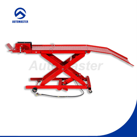 CE Approved 800lb Air/Hydraulic Motorcycle Scissor Lift