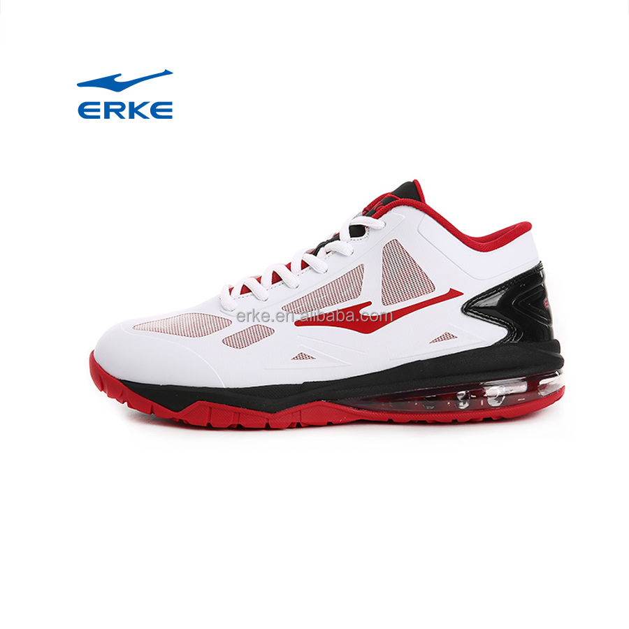 ERKE wholesale factory dropshipping professional high ankle mens basketball shoes with air cushion