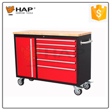 New Design 6 Drawers Tool Storage Cabinets With Wooden Worktop