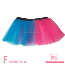 Top Quality Neon Tutu Skirt 80's Fancy Dress pink blue acrylic tutu skirts adult tutu petticoat skirts for women