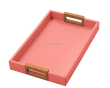Custom size Desk Leather Storage Tray for Keys and Coin