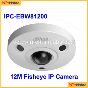 2017 New Ultra HD Vandal-proof IR Network 12mp ip dahua fisheye 360 Camera IPC-EBW81200