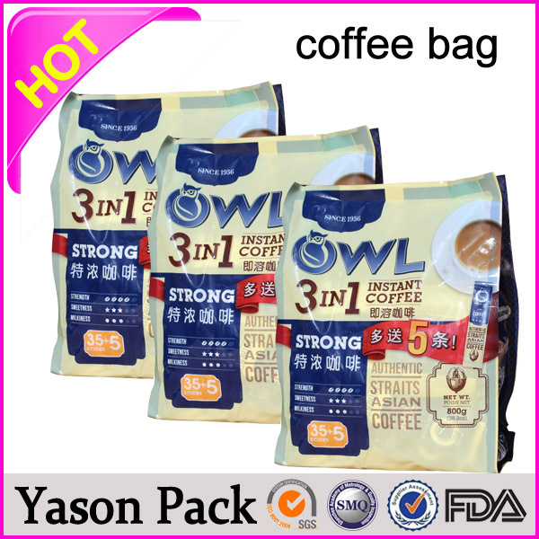 yason hot burlap coffee bags coffee packing degassing valve aluminium foil packaging bags for coffee