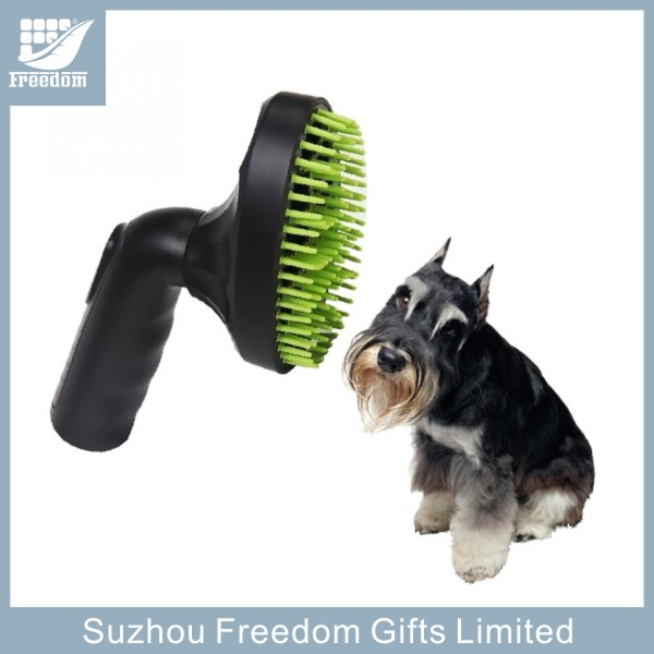 Pet grooming brushes used with vacuum cleaner