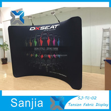Exhibition Stand Free Curve Frame Display 10ft Fabric Banner Stand