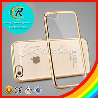 Hot selling mobile phones paypal Electronic Plate Soft TPU Case for iphone 6 case