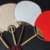 Excellent Workmanship Handmade Bamboo Handle Chinese Rice Paper Decorative Hand Fan Paddle Fan Wedding Favors Gifts