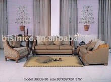 Genuine leather three seat sofa. two seat sofa. small table. comfortable and high quality leather sofa set B48159