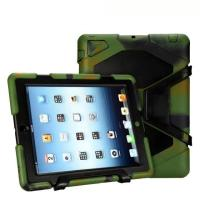 Shockproof Waterproof Dustproof sratchproof Extreme Durable PC + silicone tablet cases for ipad 2/3/4 With kickstand