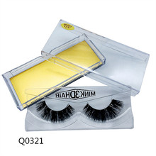 Q0321 Factory Wholesale 3D Silk Eye Lashes with Private Logo