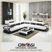 GANASI real leather home sectional,shaped corner recliner sofa furniture,leather home sectional sofa