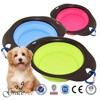 Silicone Pet Expandable dish / Collapsible dog Travel Bowl