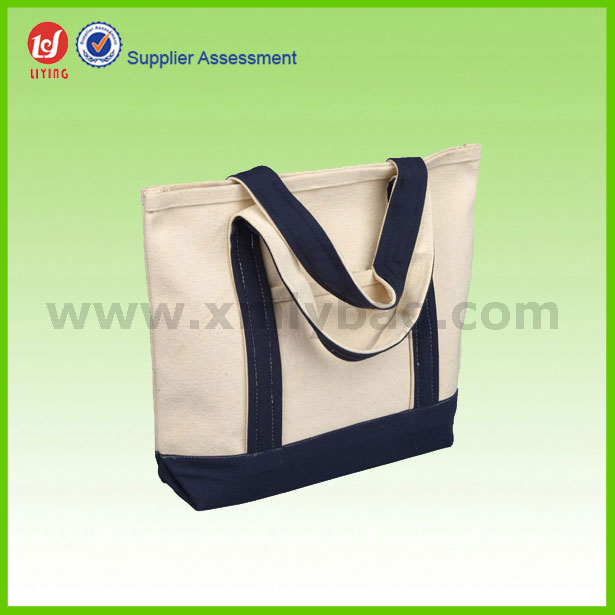 Promotional Wholesale Heavy Handle Durable Canvas Tote Bag