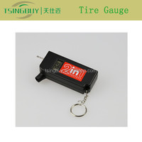 Unique design mini digital tire pressure gauge keychain with tire tread depth gauge
