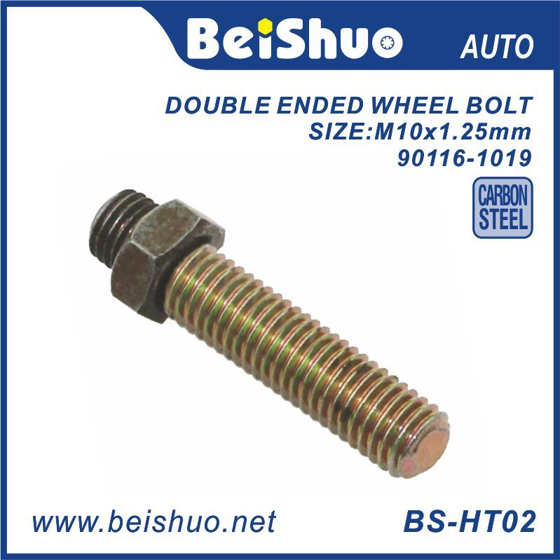 M12x1.25x50.8mm With M10 Nut Double Ended Wheel Screw Wheel Bolt 90116-1019