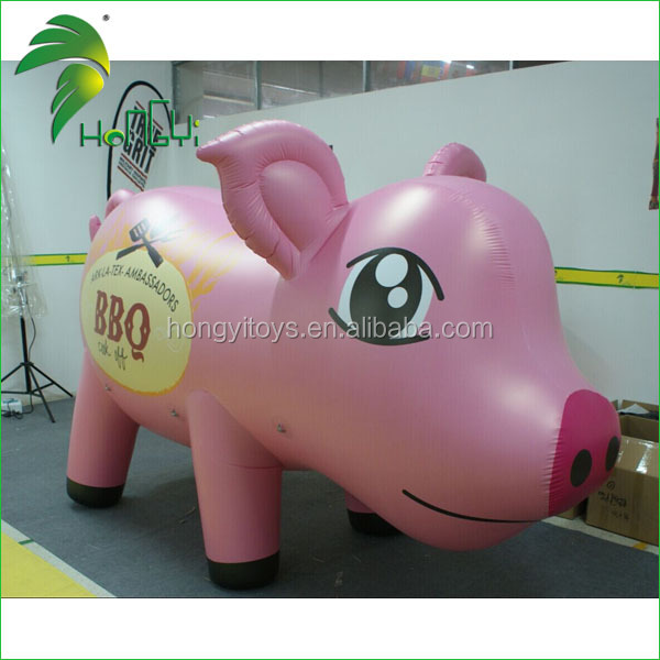 Inflatable Cartoon Pig Balloon / Inflatable Flying Big ...