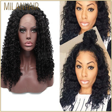 Aliexpress Human Hair Wigs Black Deep Curl Bohemian Hair Full Lace Wig With High Quality Free Shipping
