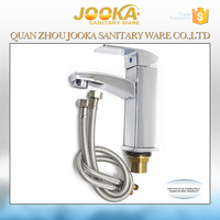 Square industrial water basin mixer faucet for basin